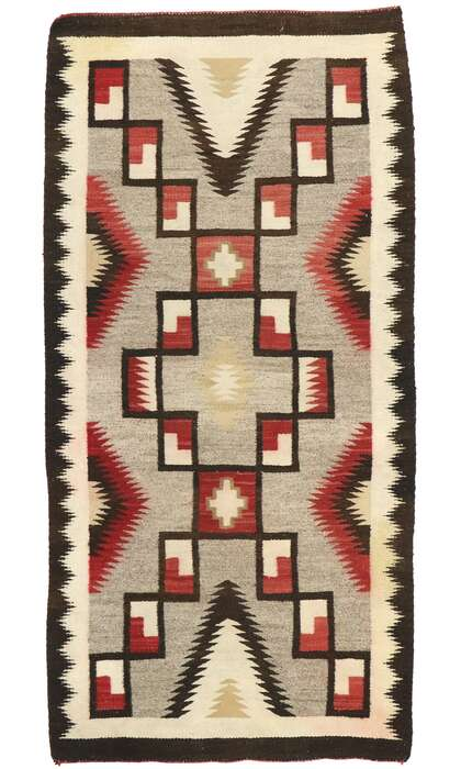 3 x 6 Vintage Navajo Kilim Rug 77527