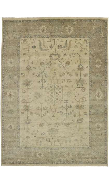 10 x 14 Transitional Oushak Rug 30419
