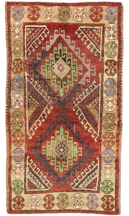 4 x 7 Vintage Turkish Oushak Rug 53056