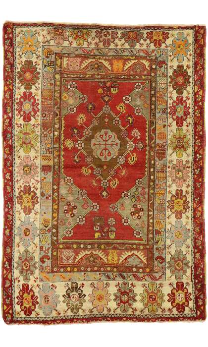 3 x 5 Vintage Turkish Oushak Rug 53058