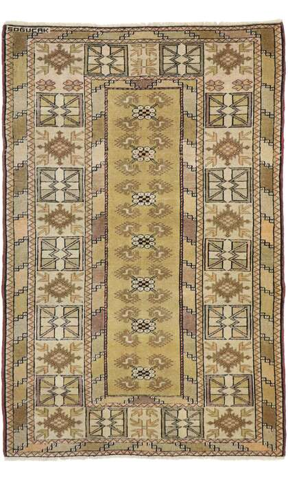 3 x 5 Vintage Turkish Oushak Rug 53063