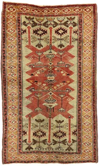 4 x 6 Vintage Turkish Oushak Rug 53077