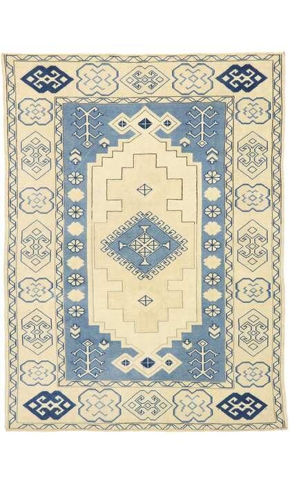 6 x 7 Vintage Turkish Oushak Rug 53078