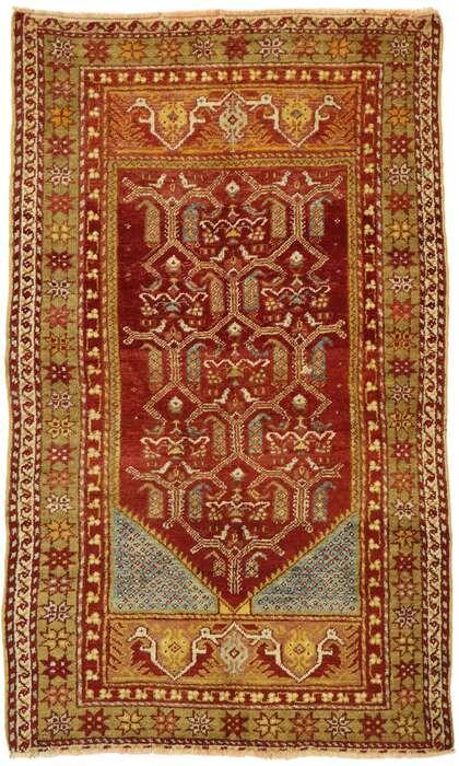 3 x 5 Vintage Turkish Oushak Rug 53083