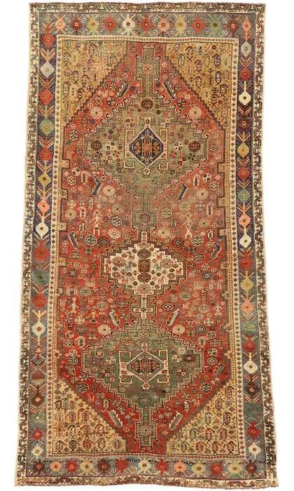4 x 7 Vintage Persian Shiraz Rug 53087