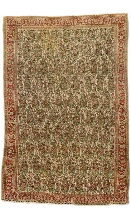 4 x 6 Vintage Persian Senneh Rug 53088