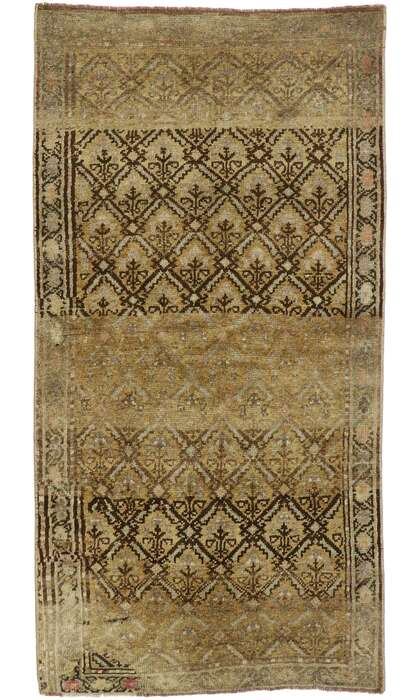 3 x 5 Vintage Turkish Oushak Rug 53097