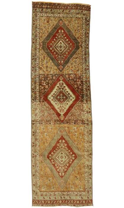 3 x 10 Vintage Turkish Oushak Runner 53099