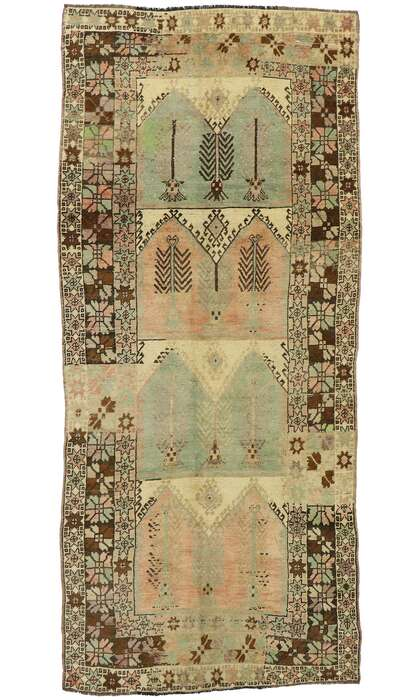 5 x 12 Vintage Turkish Oushak Runner 53100