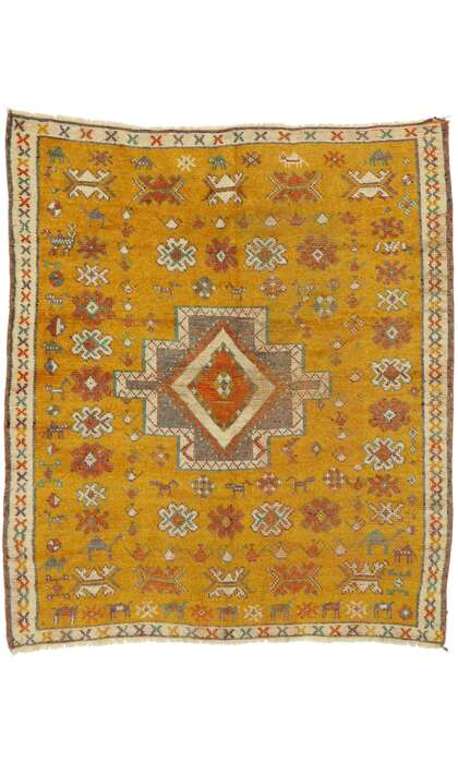 5 x 5 Vintage Turkish Oushak Rug 53102