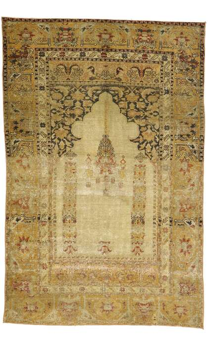 4 x 6 Vintage Turkish Oushak Rug 53104