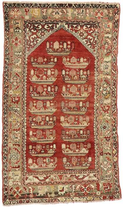 4 x 7 Vintage Turkish Oushak Rug 53110