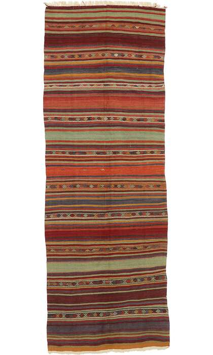 5 x 14 Vintage Turkish Kilim Runner 53118