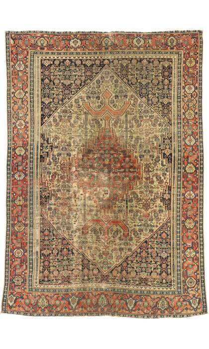 5 x 6 Antique Persian Malayer Rug 53141