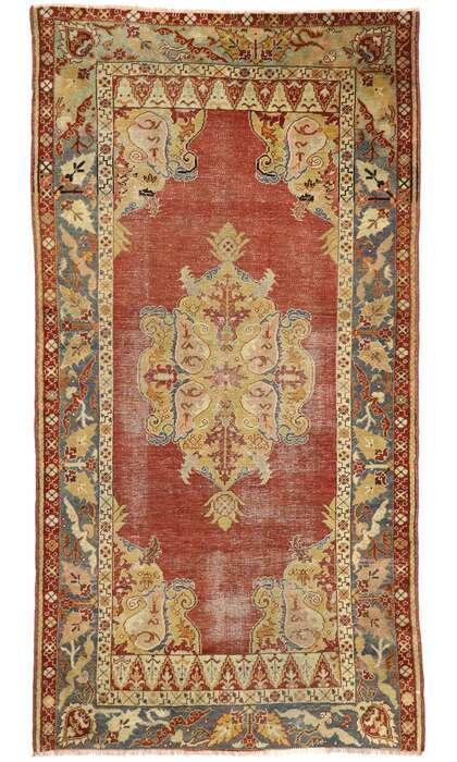 4 x 8 Vintage Turkish Oushak Rug 53149