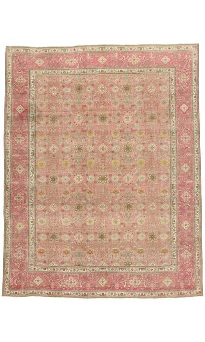 10 x 13 Vintage Persian Tabriz Rug 53163