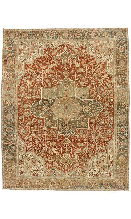 11 x 14 Antique Persian Heriz Rug 53172