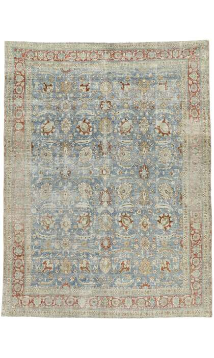 9 x 12 Antique Persian Tabriz Rug 53174