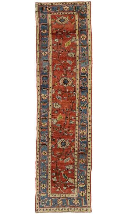 3 x 10 Vintage Turkish Oushak Runner 53178