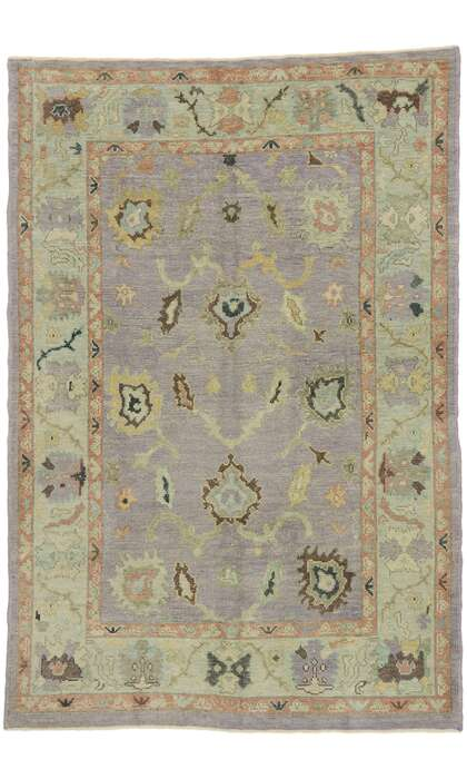 5 x 8 Turkish Oushak Rug 53202