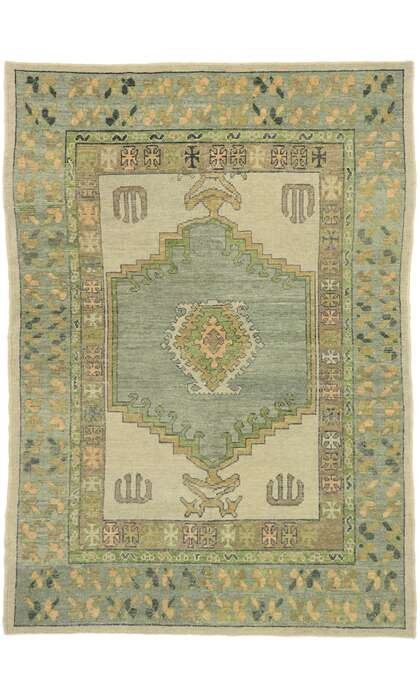 6 x 9 Turkish Oushak Rug 53203