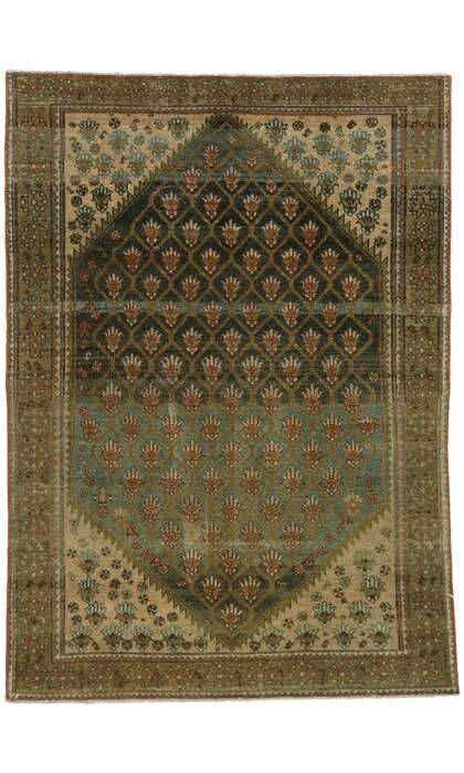 5 x 7 Antique Persian Malayer Rug 53220