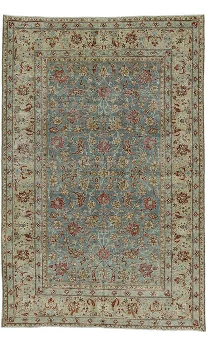 6 x 10 Antique Persian Tabriz Rug 53223