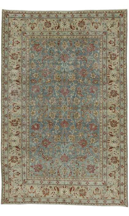 6 x 10 Antique Persian Tabriz Rug 53224