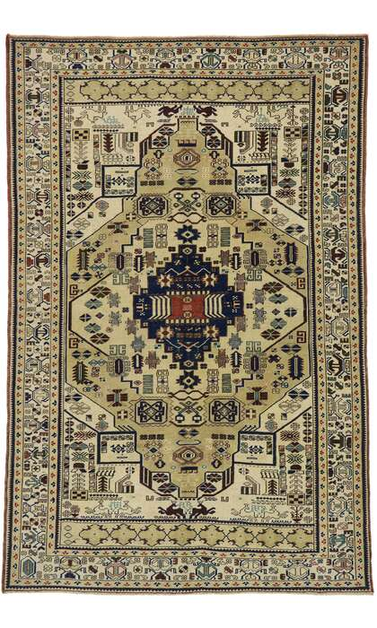 6 x 10 Vintage Turkish Oushak Rug 53225