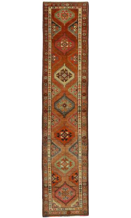 3 x 12 Vintage Turkish Oushak Runner 53226
