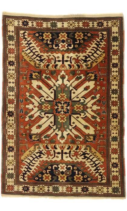 4 x 6 Vintage Turkish Oushak Rug 77521