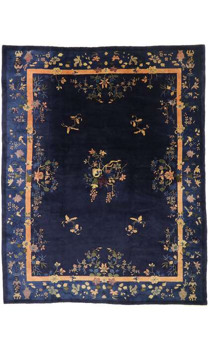 9 x 12 Antique Chinese Peking Rug 77524