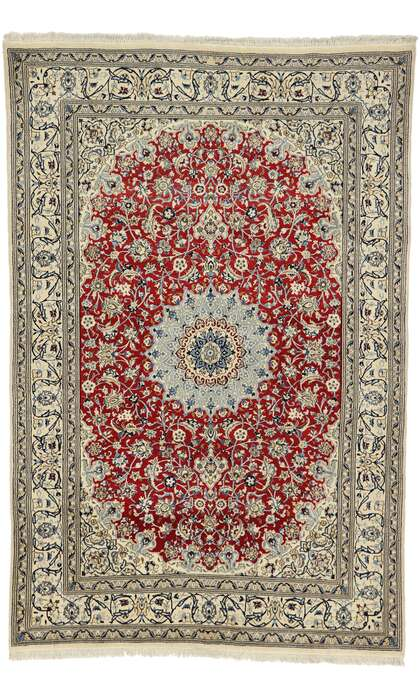 6 x 10 Vintage Persian Nain Rug 77531