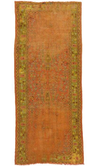 5 x 11 Antique Turkish Oushak Rug 77538
