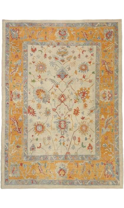 11 x 15 Contemporary Turkish Oushak Rug 52154
