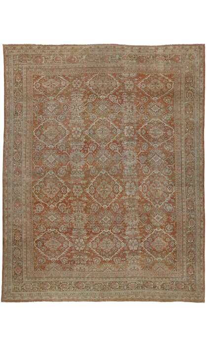 12 x 16 Antique Persian Mahal Rug 53171