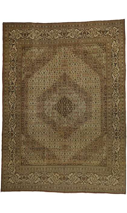 13 x 18 Antique Persian Tabriz Rug 53173