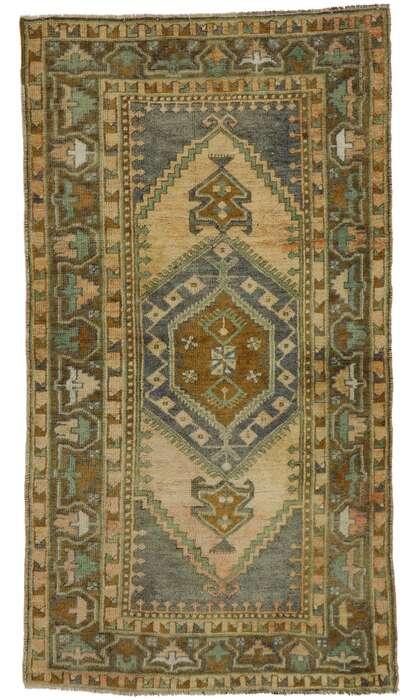 3 x 6 Vintage Turkish Oushak Rug 53184