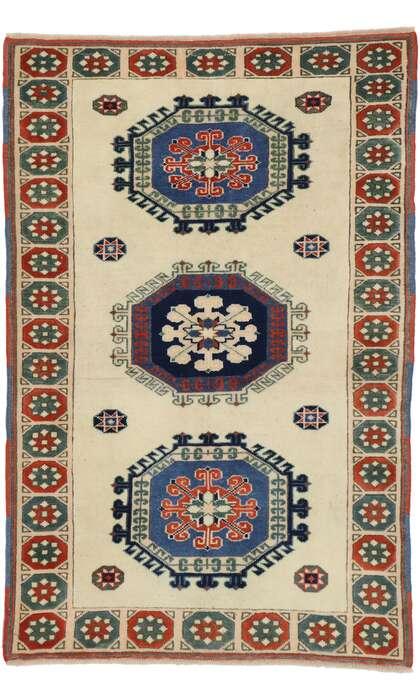 3 x 5 Vintage Turkish Oushak Rug 53185