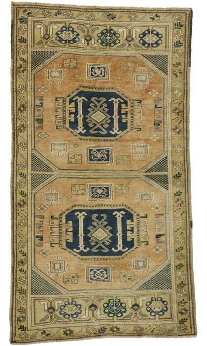 3 x 6 Vintage Turkish Oushak Rug 53187