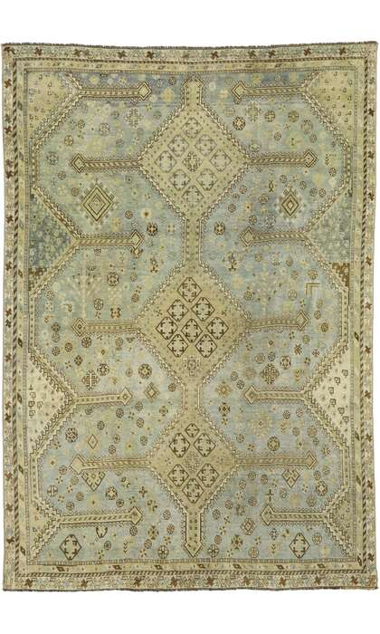 5 x 8 Antique Persian Shiraz Rug 53233