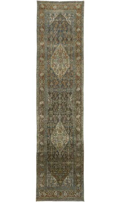 3 x 14 Antique Persian Bibikabad Rug 53236
