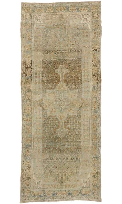 4 x 10 Antique Persian Bijar Runner 53242