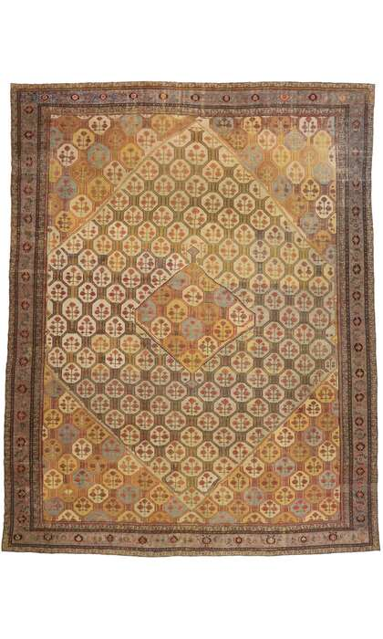 16 x 20 Antique Persian Malayer Rug 77481