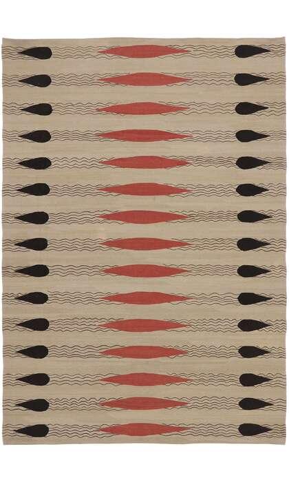 7 x 10 Vintage Turkish Kilim Rug 77536