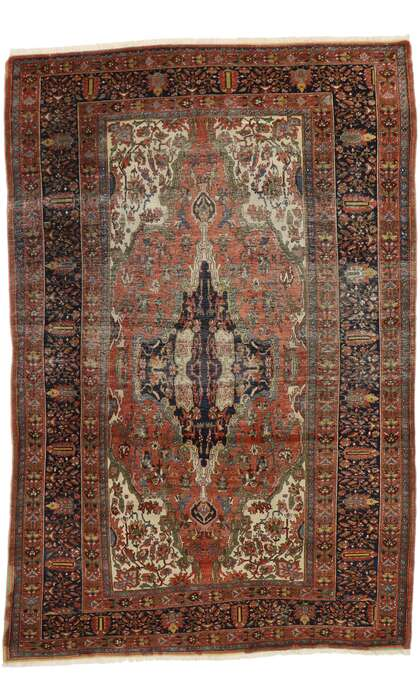 8 x 13 Antique Persian Farahan Rug 77547