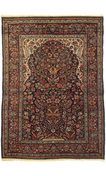 4 x 5 Antique Persian Kashan Rug 77549