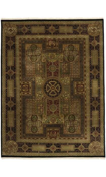 9 x 12 Vintage Indian Rug 77553