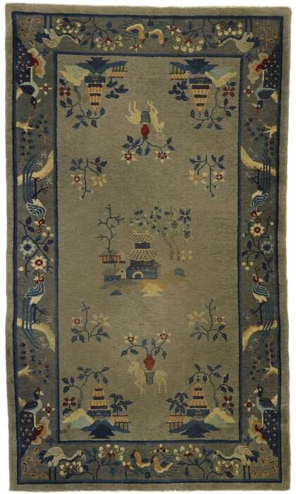 4 x 7 Antique Chinese Art Deco Rug 77557