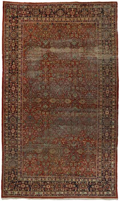 12 x 20 Antique Persian Mahal Rug 77563